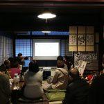玉村屋オープニングマルシェにて長田製紙所の揉み紙名刺入れとアクセサリーを販売しました。